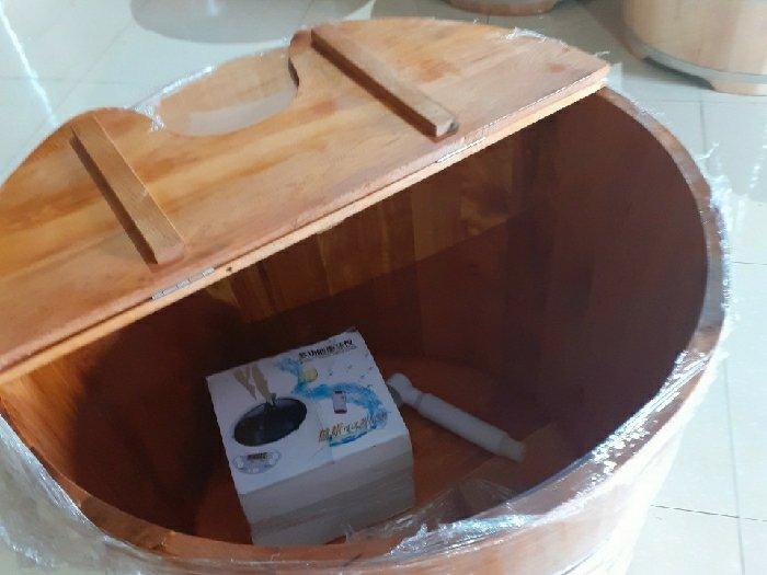 Bồn tắm kết hợp xông hơi gỗ Pơ Mu0