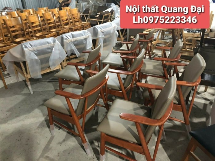 Bàn ghế cafe gỗ sơn P,U1