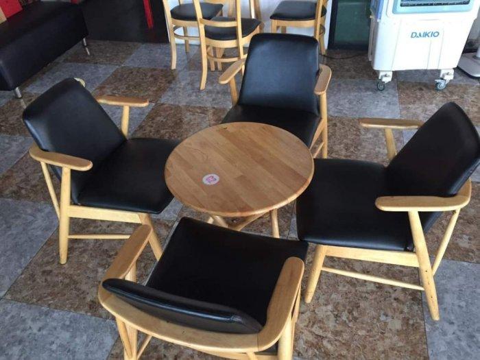 Bàn ghế cafe gỗ sơn P,U0