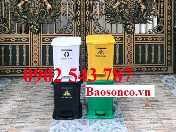 Chuyên cung cấp thùng rác y tế đạp chân 25 lít1