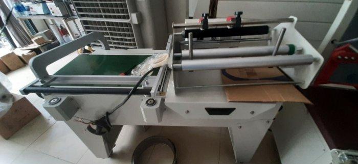 Máy cắt dán màng co POF bằng khí nén, máy đóng gói màng co hộp bán tự động0