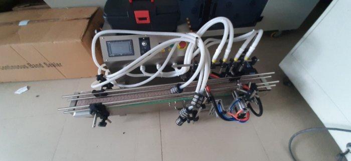 Máy chiết rót 4 vòi, máy chiết rót dịch lỏng, máy chiết rót tự động để bàn 4 vòi chiết1