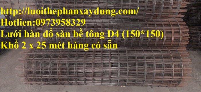 Sản xuất lưới thép hàn đổ sàn bê tông nhà sưởng phi 4 ( 100*100),(150*150),(200*200),(250*250) phân phối toàn quốc5