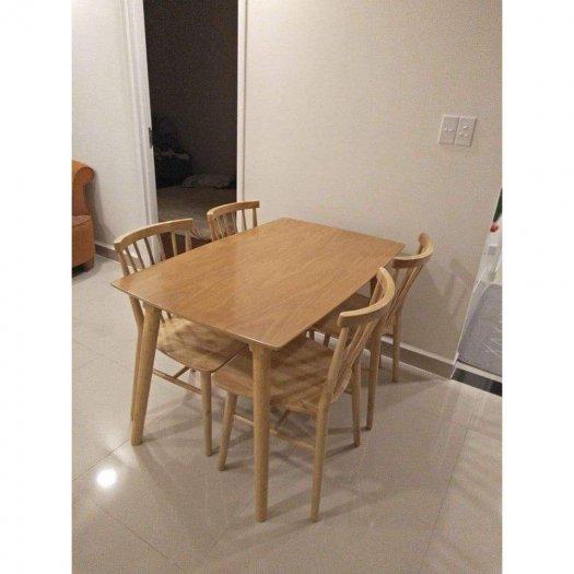 Bộ bàn ăn song tiện bao gồm 1 bàn 4 ghế1