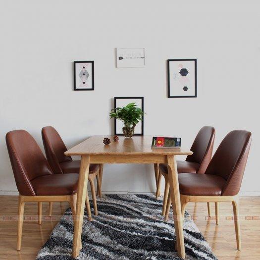 Bộ bàn ăn Grace tự nhiên 4 ghế1