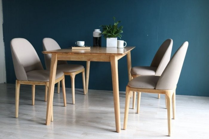 Bộ bàn ăn Grace tự nhiên 4 ghế0