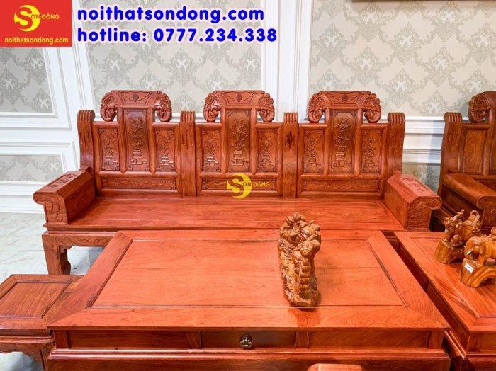 Bộ bàn ghế Tần thủy hoàng như ý trương voi5