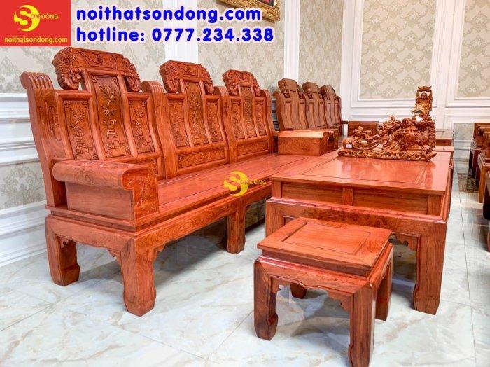 Bộ bàn ghế Tần thủy hoàng như ý trương voi0