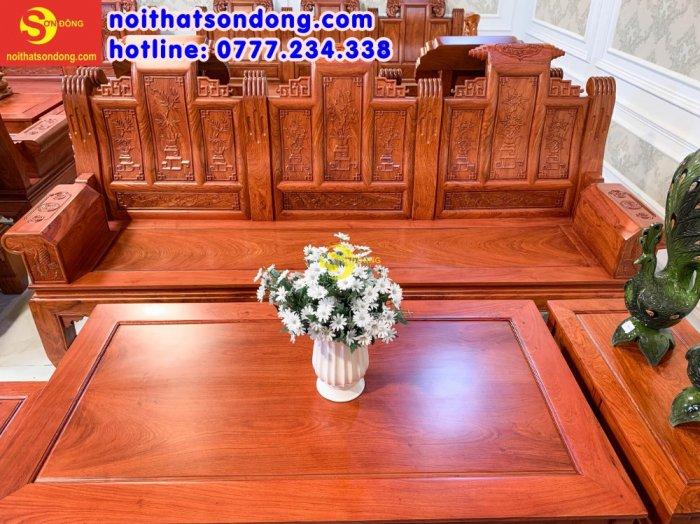 Bộ bàn ghế tần thủy hoàng tứ quý tay hộp cá chép 6 món5