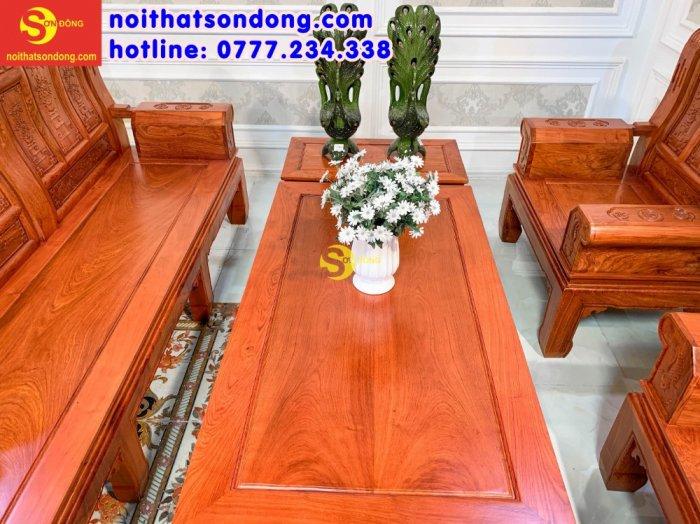 Bộ bàn ghế tần thủy hoàng tứ quý tay hộp cá chép 6 món1
