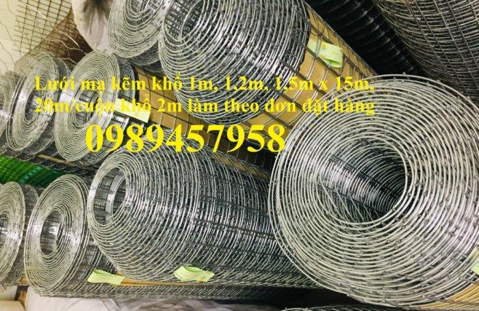 Lưới hàn mạ kẽm phi 3 ô 50x50 khổ 1m, 1,2m, 1,5m, Lưới thép phi 4 50x50 có sẵn0