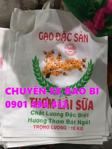 Bao đựng lúa, gạo in Flexo giá rẻ0