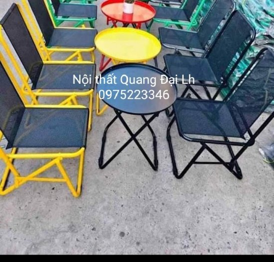 Ghế xếp sắt lưới nhiều màu4