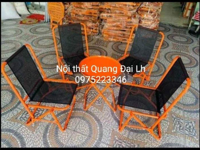 Bộ ghế sắt lưới xếp nhiều màu giá hạt giẻ2