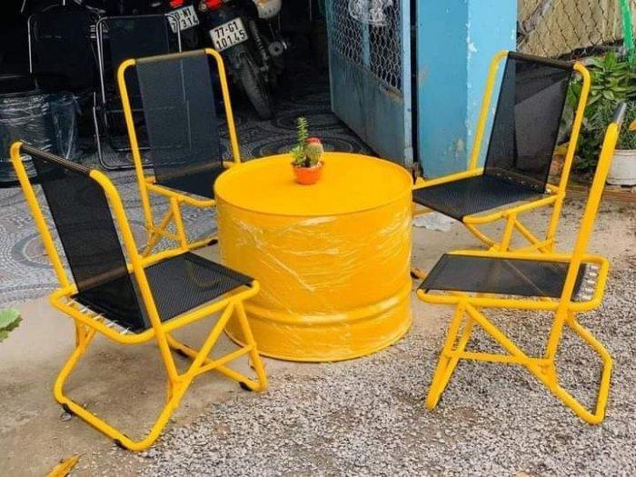 Bộ ghế sắt lưới xếp nhiều màu giá hạt giẻ1