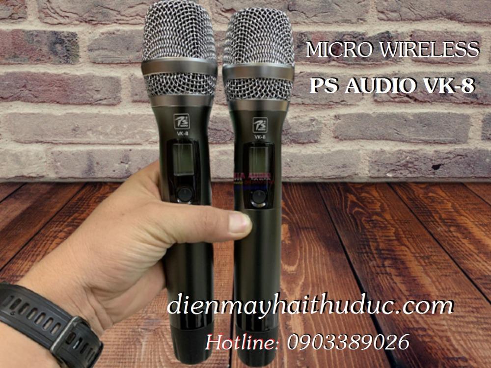 Micro không dây cao cấp PS Audio VK-8 mẫu mới đẹp, hát rất hay1
