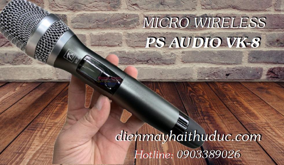 Micro không dây cao cấp PS Audio VK-8 mẫu mới đẹp, hát rất hay0
