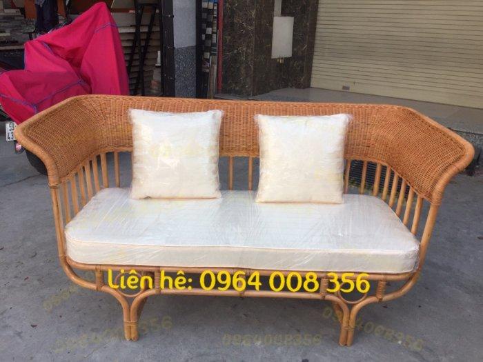 Băng ghế sofa mây, Ghế sofa mây dài, băng dài sofa mây27
