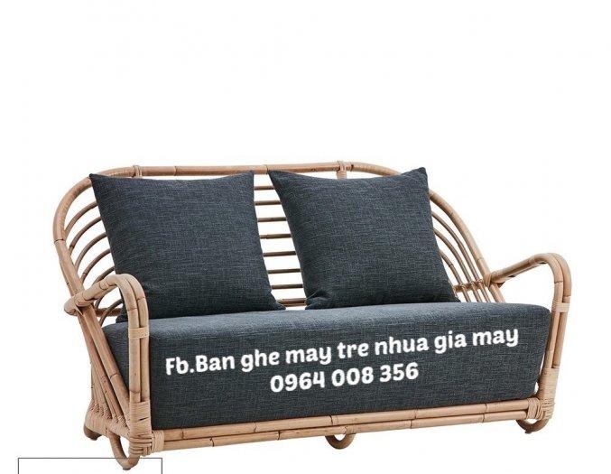 Băng ghế sofa mây, Ghế sofa mây dài, băng dài sofa mây11