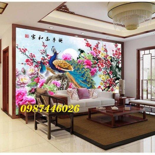 Gạch tường, tranh trang trí ốp tường 3d đẹp HP794211