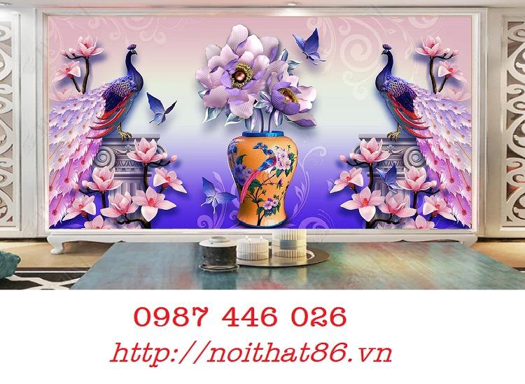 Gạch tường, tranh trang trí ốp tường 3d đẹp HP794210
