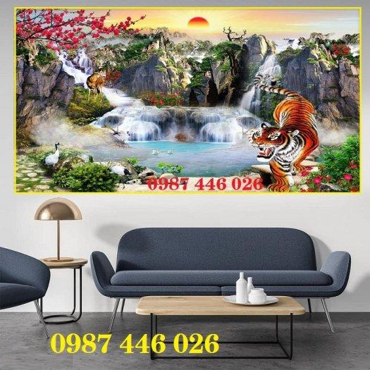 Gạch tường, tranh trang trí ốp tường 3d đẹp HP79427