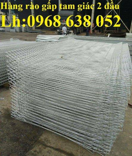 Lưới hàng rào D5a 50x150 gập 2 đầu tam giác15