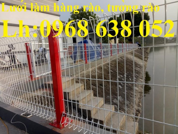 Lưới hàng rào D5a 50x150 gập 2 đầu tam giác10