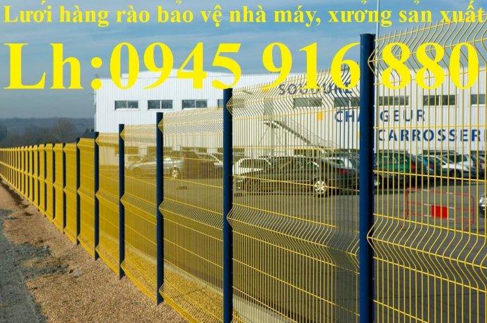 Lưới hàng rào D5a150x150 chấn sóng ở giữa, 2 đầu thẳng bền đẹp3