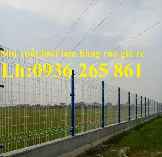 Lưới hàng rào D5a150x150 chấn sóng ở giữa, 2 đầu thẳng bền đẹp0