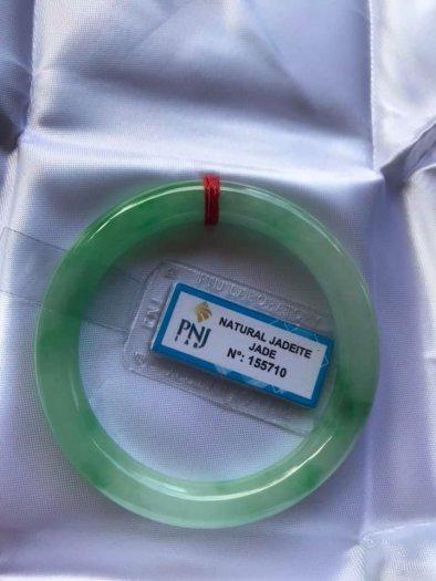 Chiếc Vòng cẩm thạch tự nhiên Ni49 đã kiểm định kèm giấy chứng nhận P No 155710 bóng đẹp Nữ 48kg -52kg có 3680k ạ5