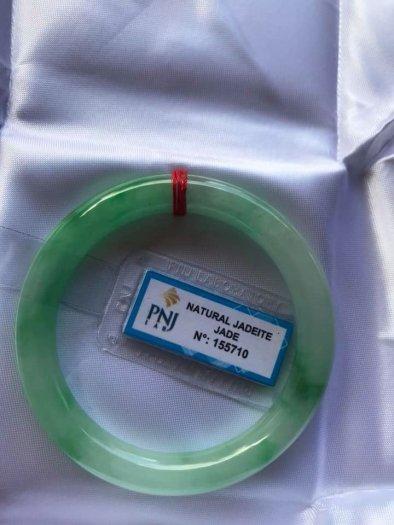 Chiếc Vòng cẩm thạch tự nhiên Ni49 đã kiểm định kèm giấy chứng nhận P No 155710 bóng đẹp Nữ 48kg -52kg có 3680k ạ4