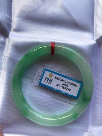 Chiếc Vòng cẩm thạch tự nhiên Ni49 đã kiểm định kèm giấy chứng nhận P No 155710 bóng đẹp Nữ 48kg -52kg có 3680k ạ3
