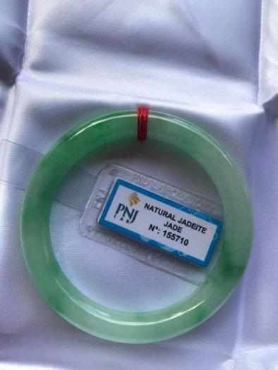 Chiếc Vòng cẩm thạch tự nhiên Ni49 đã kiểm định kèm giấy chứng nhận P No 155710 bóng đẹp Nữ 48kg -52kg có 3680k ạ1