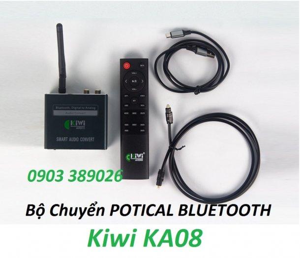 Bộ chuyển Optical Kiwi KA08 hỗ trợ Bluetooth xa đến 10m, USB phát nhạc MP32