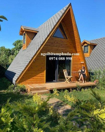 Tấm bitum giả đá lợp mái trang trí, chống thấm, siêu nhẹ, ngói lợp nhà mới13