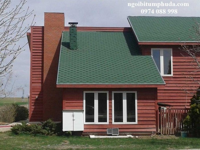 Tấm bitum giả đá lợp mái trang trí, chống thấm, siêu nhẹ, ngói lợp nhà mới11