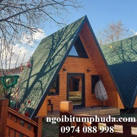 Tấm bitum giả đá lợp mái trang trí, chống thấm, siêu nhẹ, ngói lợp nhà mới10