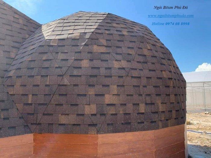 Tấm bitum giả đá lợp mái trang trí, chống thấm, siêu nhẹ, ngói lợp nhà mới4