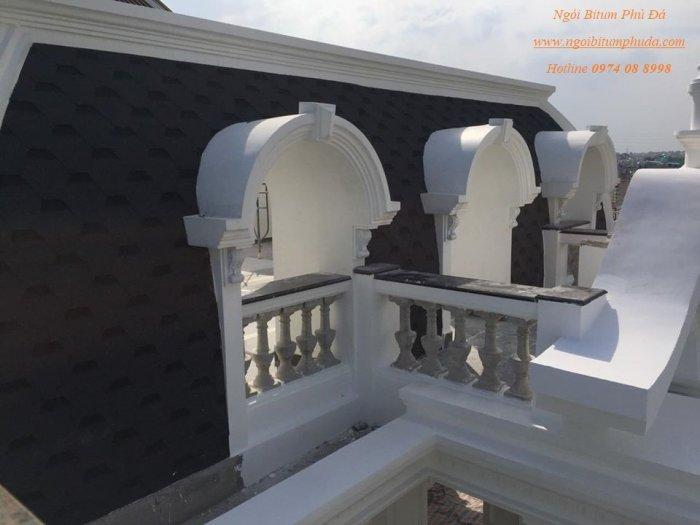 Ngói lợp nhà biệt thự tân cổ điển, ngói bitum giả đá, ngói nhựa đường trang trí3