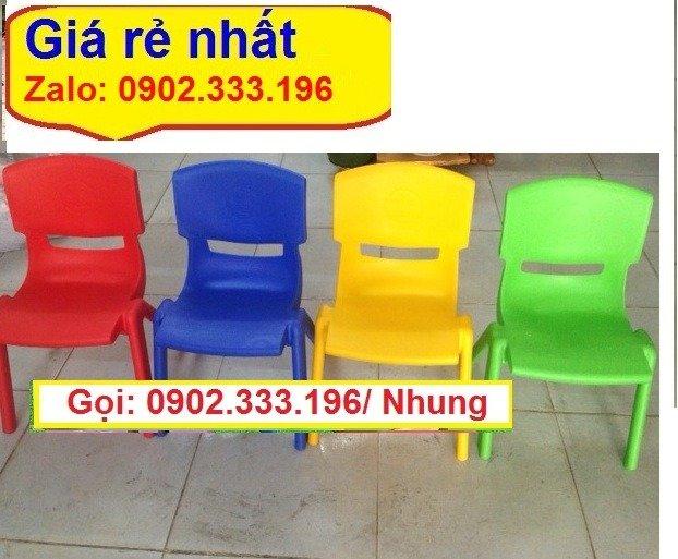 Bán ghế nhựa đúc mầm non, ghế nhựa đúc mẫu giáo giá rẻ14