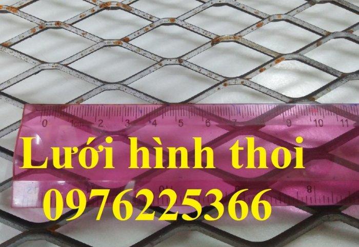 Lưới quả trám, lưới dập giãn, lưới thép hình thoi 1ly, 2ly, 3ly, 4ly, 5ly  có sẵn hàng7