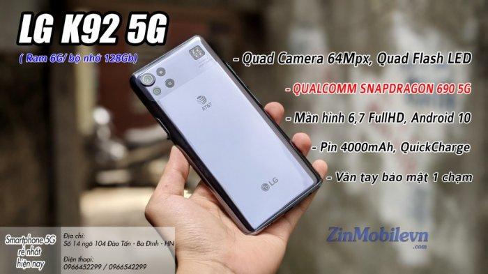 Điện thoại LG K92 5G Giá tốt tại Zinmobile7