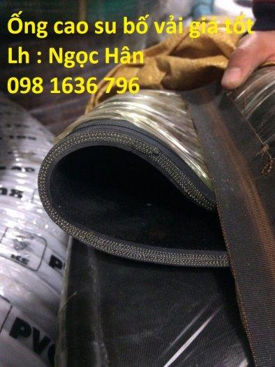 Ống cao su bố vải , hút nước chịu áp lực D2507