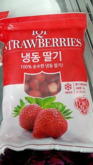 Dâu tây đông lạnh Hàn Quốc  - Clear stock2