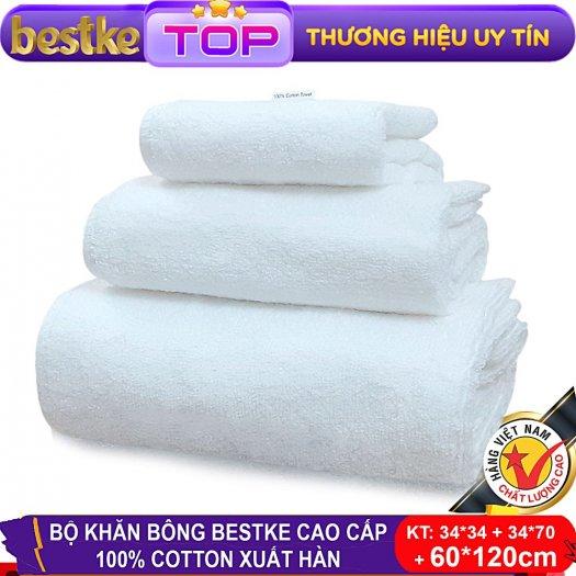 Bộ Khăn Bông Bestke Cao Cấp 100% Cotton Xuất Khẩu Hàn Quốc9