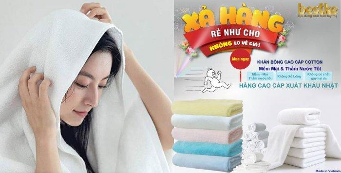 Bộ Khăn Bông Bestke Cao Cấp 100% Cotton Xuất Khẩu Hàn Quốc5