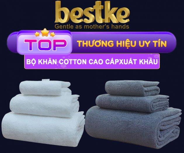 Bộ Khăn Bông Bestke Cao Cấp 100% Cotton Xuất Khẩu Hàn Quốc1