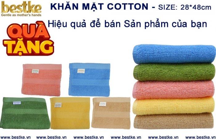 Khăn Mặt Cotton, Mềm Mại và Siêu Thấm Hút Nước KT 28cm*48cm4