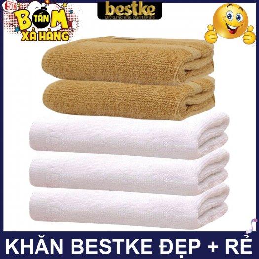 Combo 5 khăn gồm 3 Khăn gội và 2 khăn mặt bestke 100% cotton10
